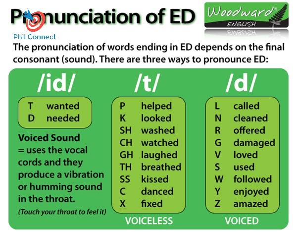 """Bài 25: Cách đọc âm """"ed"""" của động từ ở thì quá khứ"""