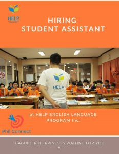 Trường Anh ngữ Help tuyển dụng Student Assistant