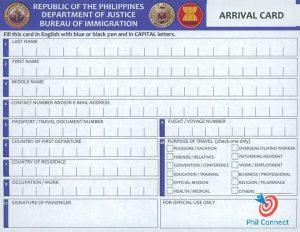Tờ khai hải quan của Philippines
