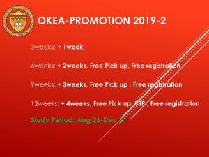 Khuyến mãi trường OKEA 2019