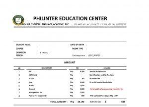 Học tiếng Anh tại Philippines - Chi phí địa phương