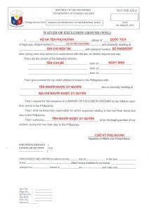 Form ủy quyền giám hộ trại hè Philippines