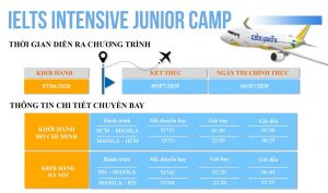 Du học hè Philippines - Lịch bay của trại hè IELTS