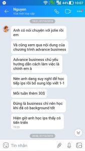 Review của học viên về khóa IPS và Business