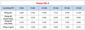 Học phí trường Cebu Blue Ocean - Khóa Power ESL 4