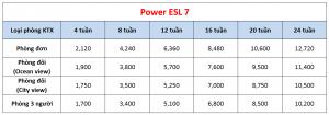 Học phí trường Cebu Blue Ocean - Khóa Power ESL 7