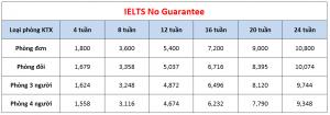 Học phí trường CPILS - Khóa IELTS No Guarantee