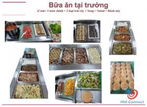 Học cấp 3 tại Philippines - Bữa ăn tại trường
