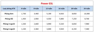 Học phí trường Pines - Khóa Power ESL