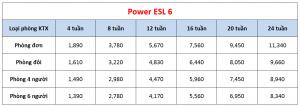 Học phí trường Pines - Khóa Power ESL 6