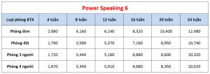 Học phí trường EV Academy - Khóa Power Speaking 6