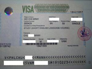 Visa du học Philippines - Mr. Mạnh Chu